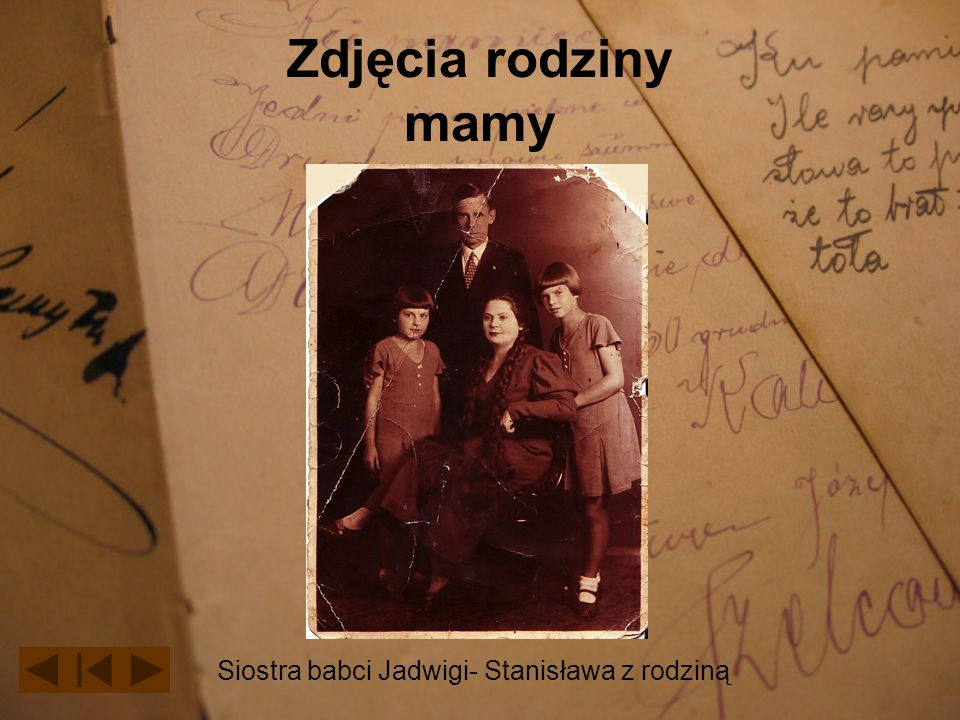 Zdjęcia rodziny mamy Siostra babci Jadwigi- Stanisława z rodziną