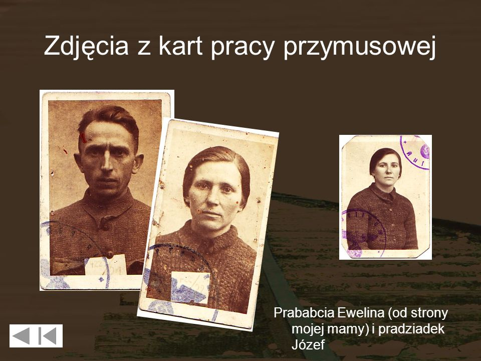Zdjęcia z kart pracy przymusowej