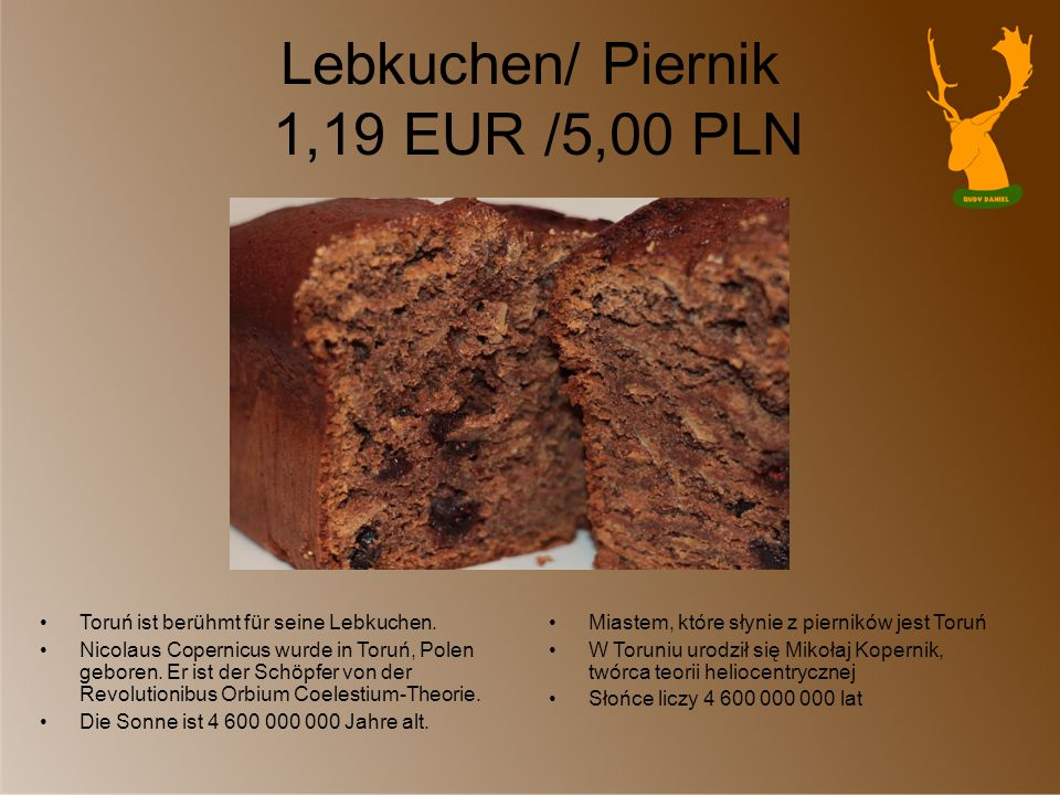 Lebkuchen/ Piernik 1,19 EUR /5,00 PLN