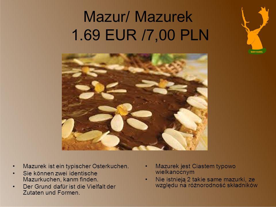 Mazur/ Mazurek 1.69 EUR /7,00 PLN