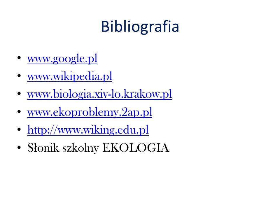 Bibliografia www.google.pl www.wikipedia.pl