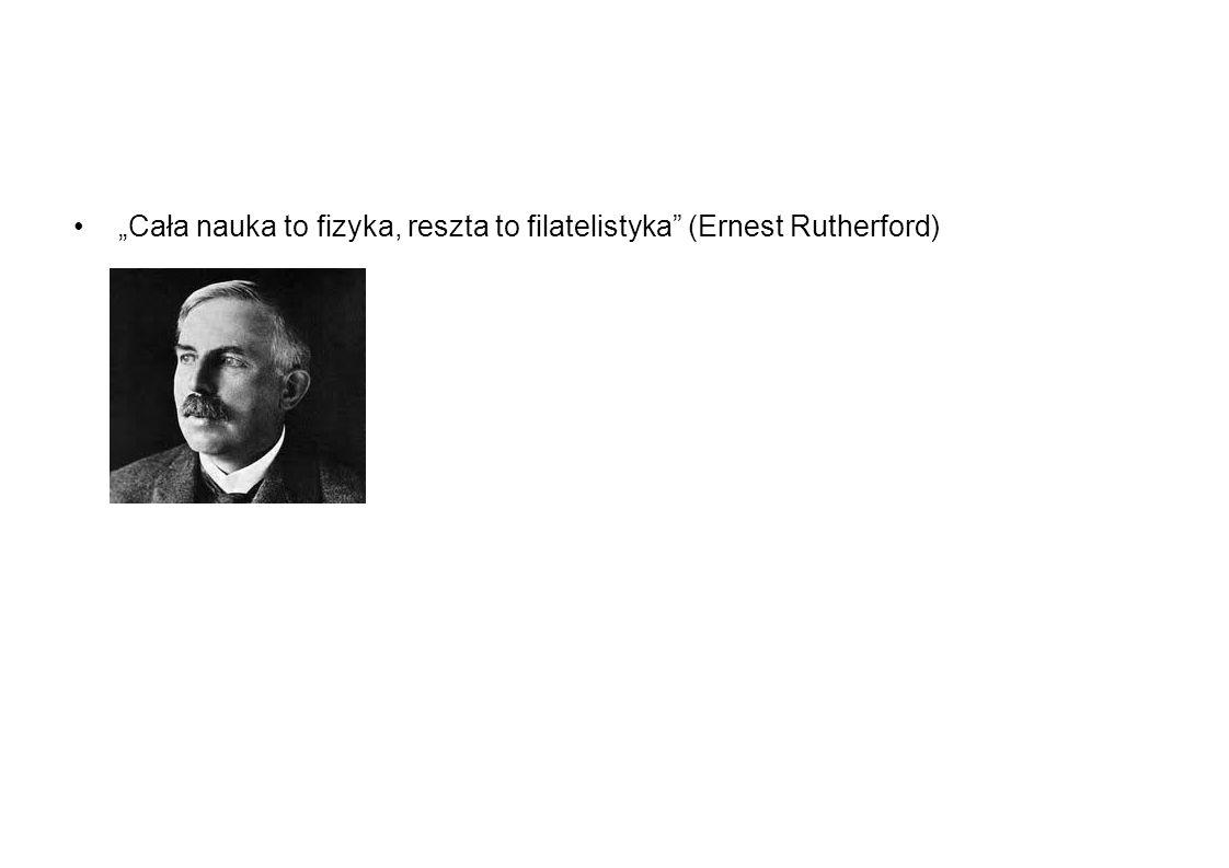"""""""Cała nauka to fizyka, reszta to filatelistyka (Ernest Rutherford)"""