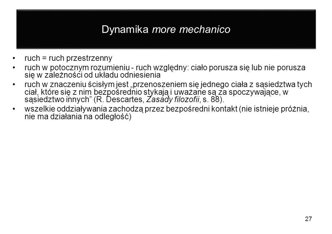 Dynamika more mechanico