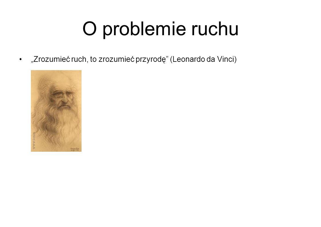 """O problemie ruchu """"Zrozumieć ruch, to zrozumieć przyrodę (Leonardo da Vinci)"""