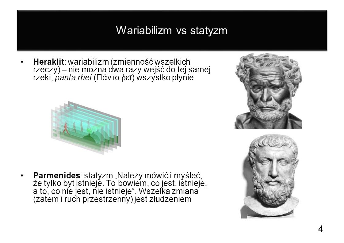 Wariabilizm vs statyzm
