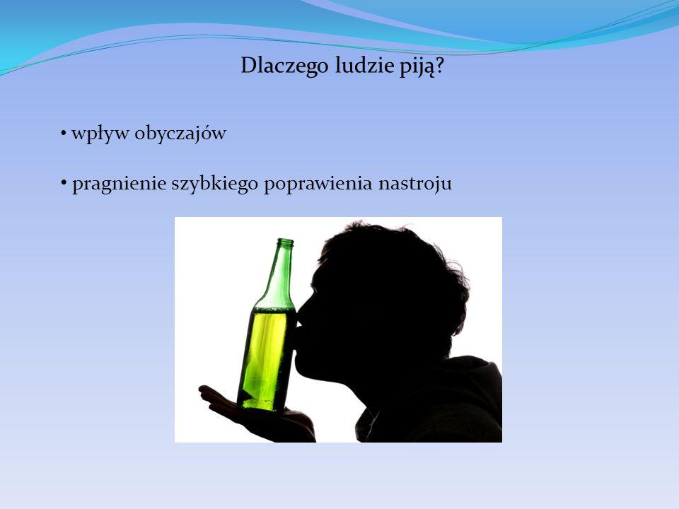 Dlaczego ludzie piją pragnienie szybkiego poprawienia nastroju