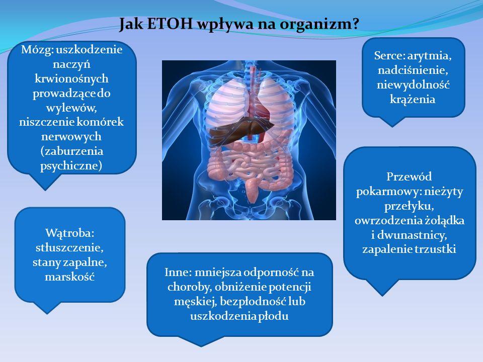 Jak ETOH wpływa na organizm