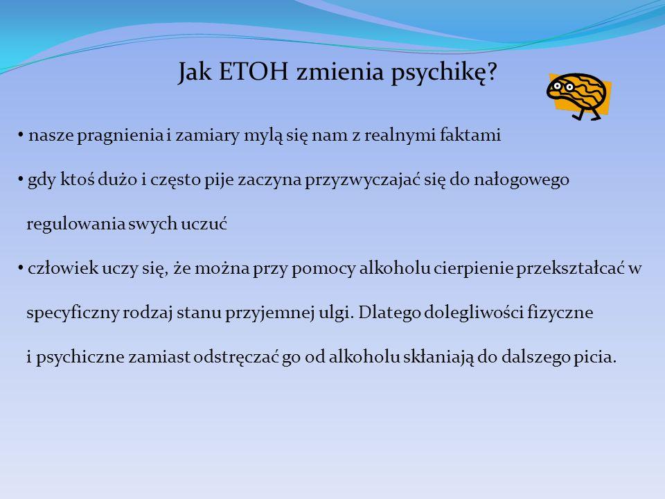 Jak ETOH zmienia psychikę