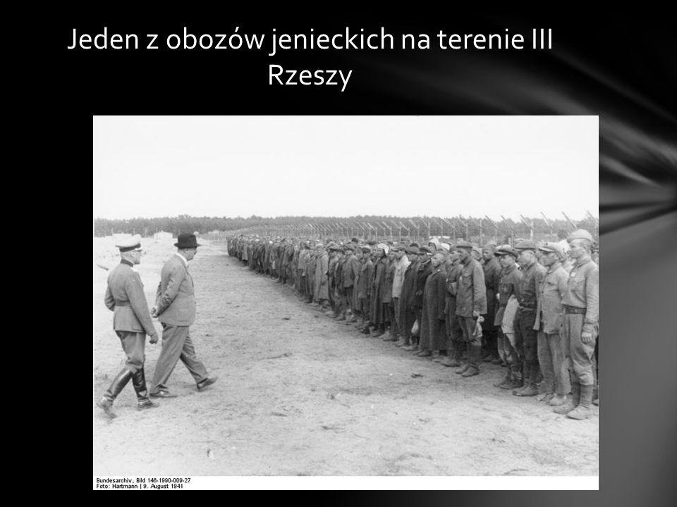 Jeden z obozów jenieckich na terenie III Rzeszy