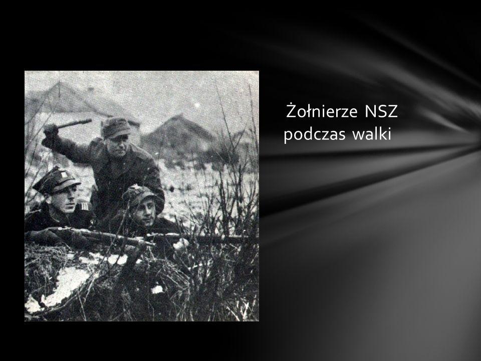 Żołnierze NSZ podczas walki