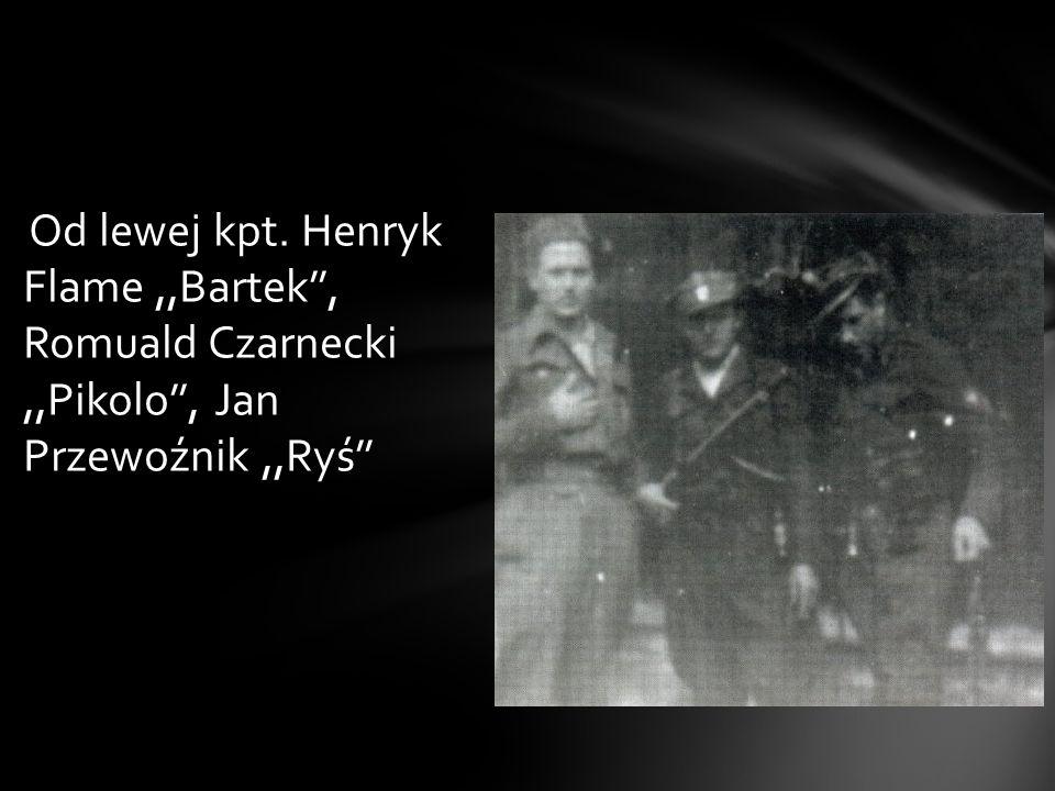 Od lewej kpt. Henryk Flame ,,Bartek'', Romuald Czarnecki ,,Pikolo'', Jan Przewoźnik ,,Ryś''