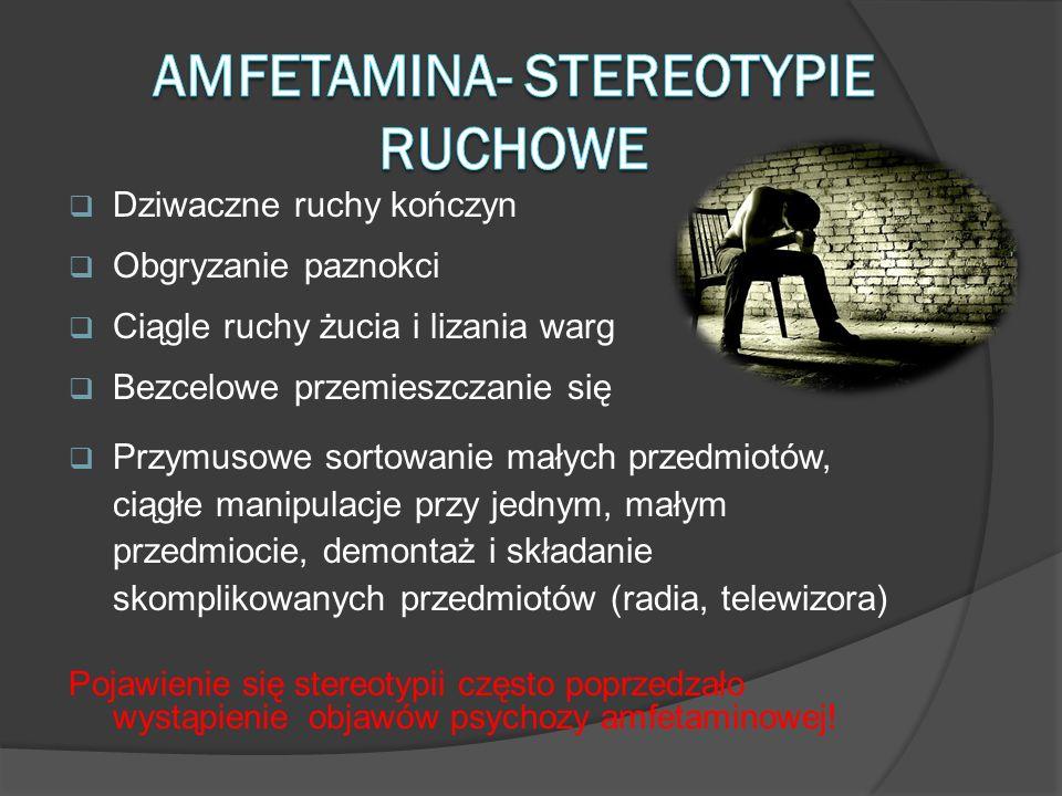 Amfetamina- stereotypie ruchowe