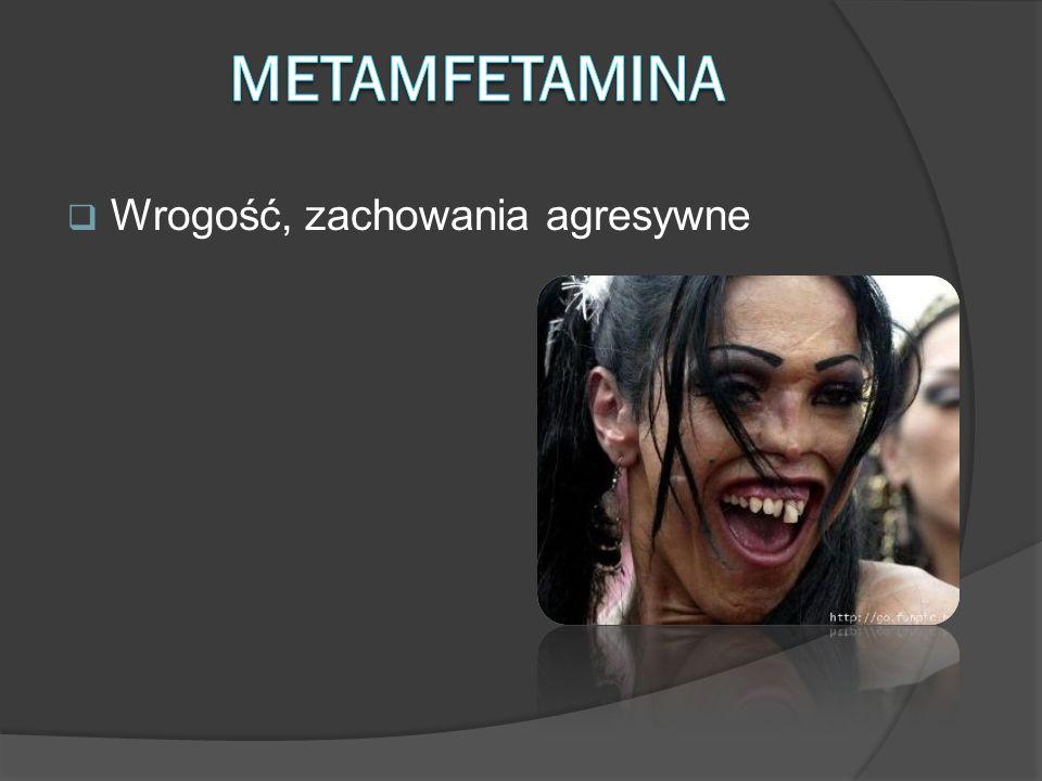 Metamfetamina Wrogość, zachowania agresywne