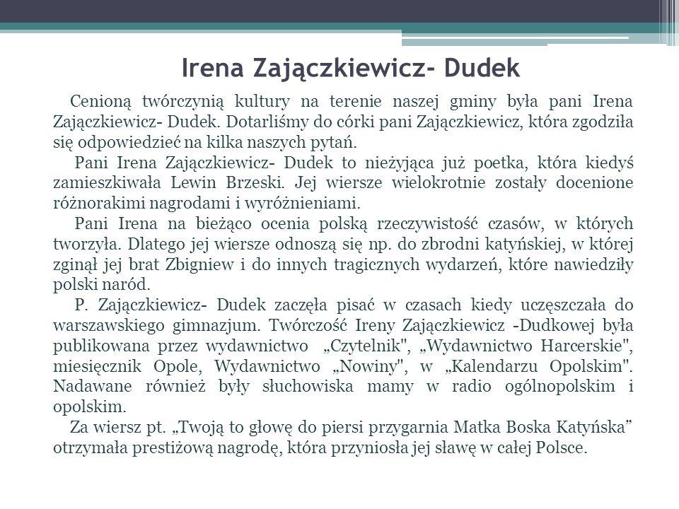 Irena Zajączkiewicz- Dudek