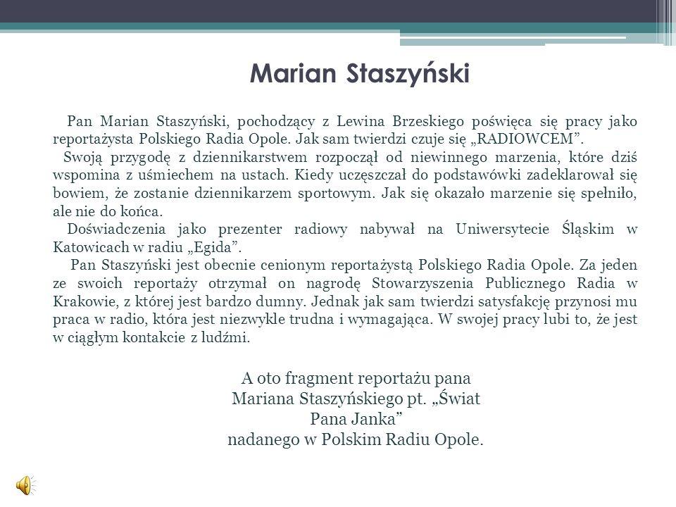 nadanego w Polskim Radiu Opole.