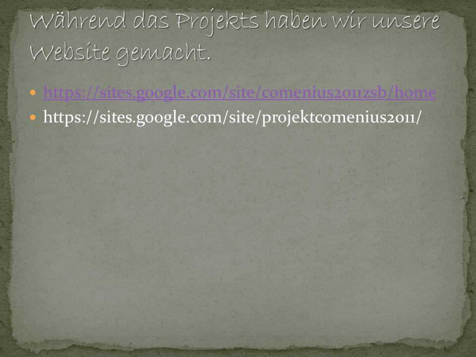 Während das Projekts haben wir unsere Website gemacht.