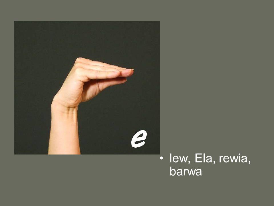 lew, Ela, rewia, barwa