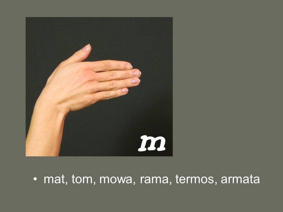 mat, tom, mowa, rama, termos, armata
