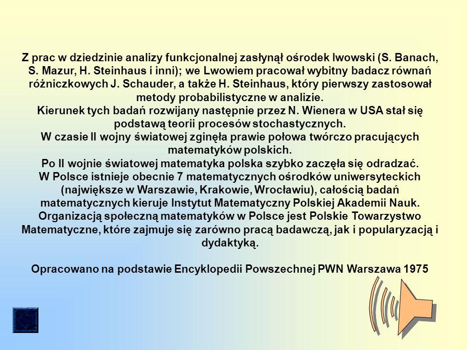 Z prac w dziedzinie analizy funkcjonalnej zasłynął ośrodek lwowski (S