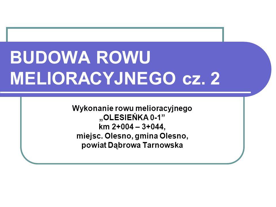 BUDOWA ROWU MELIORACYJNEGO cz. 2