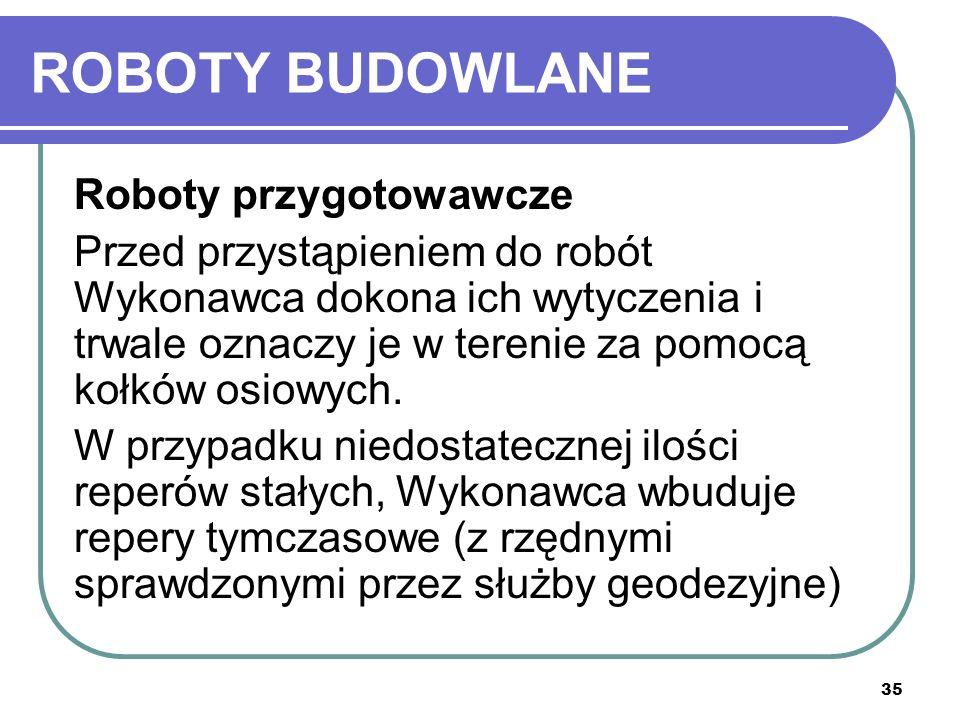 ROBOTY BUDOWLANE Roboty przygotowawcze