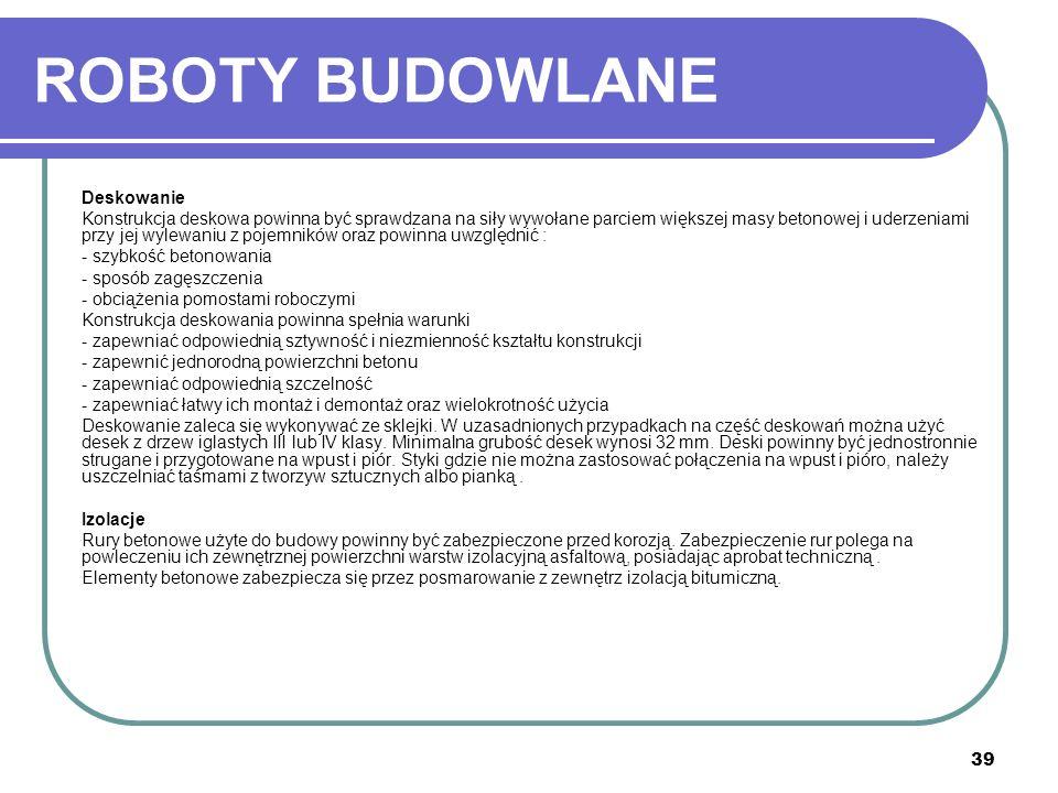 ROBOTY BUDOWLANE Deskowanie