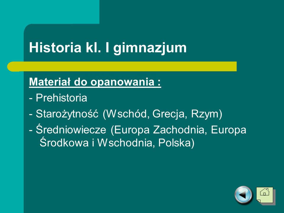 Historia kl. I gimnazjum