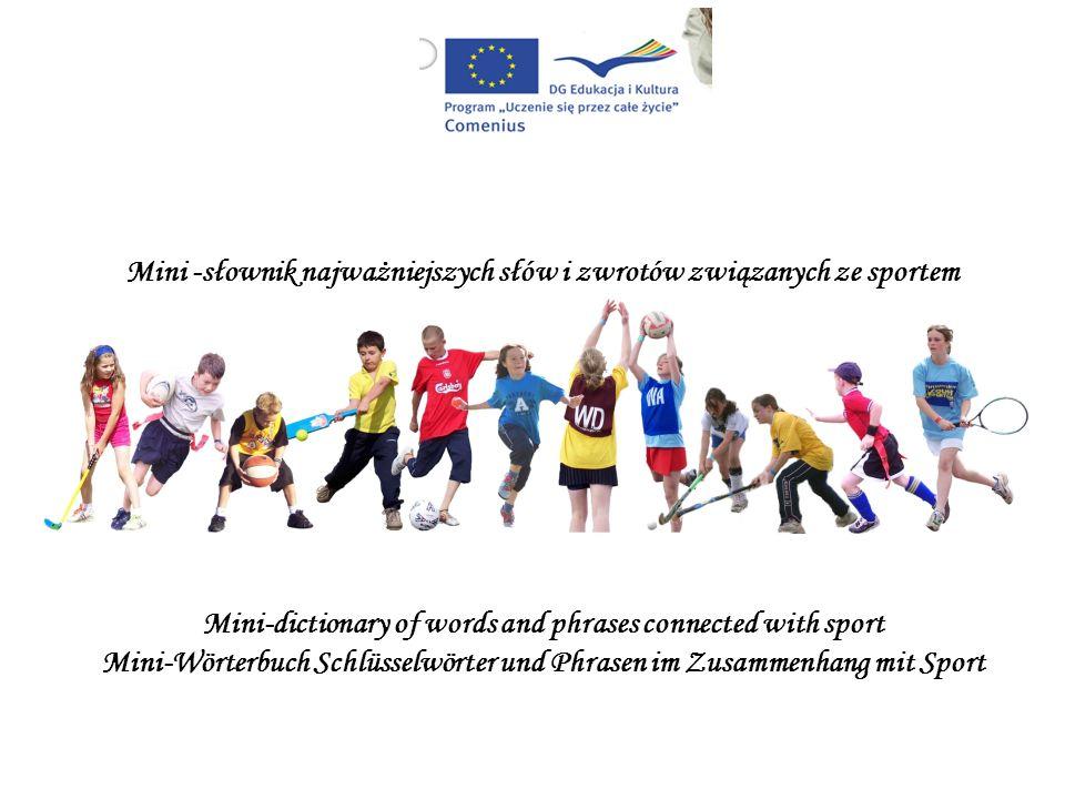 Mini-Wörterbuch Schlüsselwörter und Phrasen im Zusammenhang mit Sport