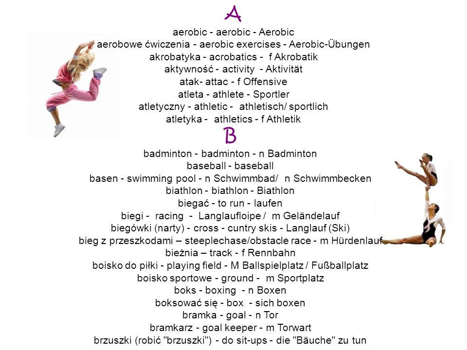 A B aerobic - aerobic - Aerobic