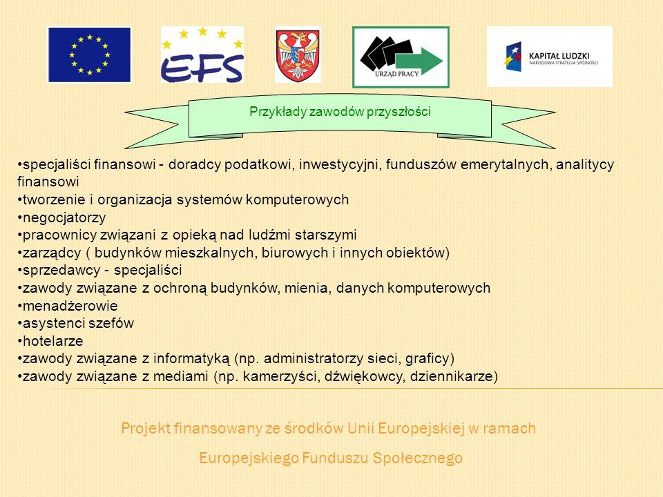 Projekt finansowany ze środków Unii Europejskiej w ramach