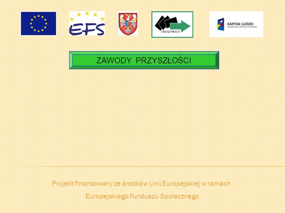 ZAWODY PRZYSZŁOŚCI Projekt finansowany ze środków Unii Europejskiej w ramach.