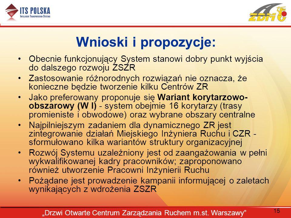 """""""Drzwi Otwarte Centrum Zarządzania Ruchem m.st. Warszawy"""