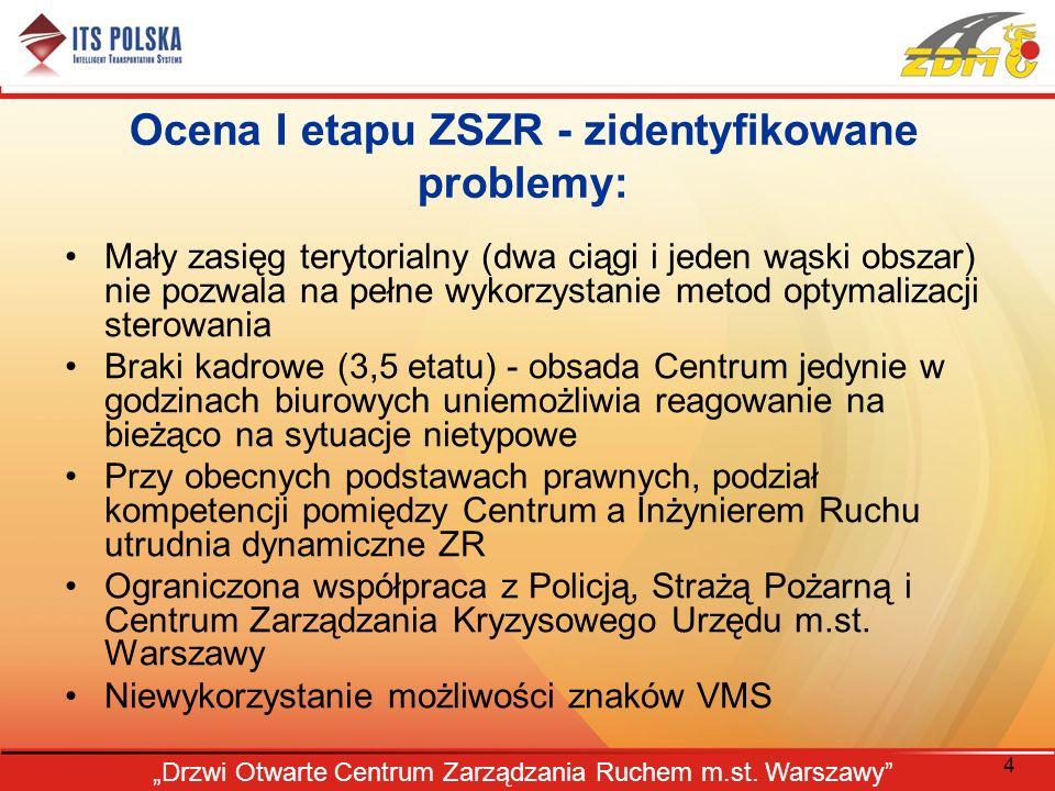 Ocena I etapu ZSZR - zidentyfikowane problemy: