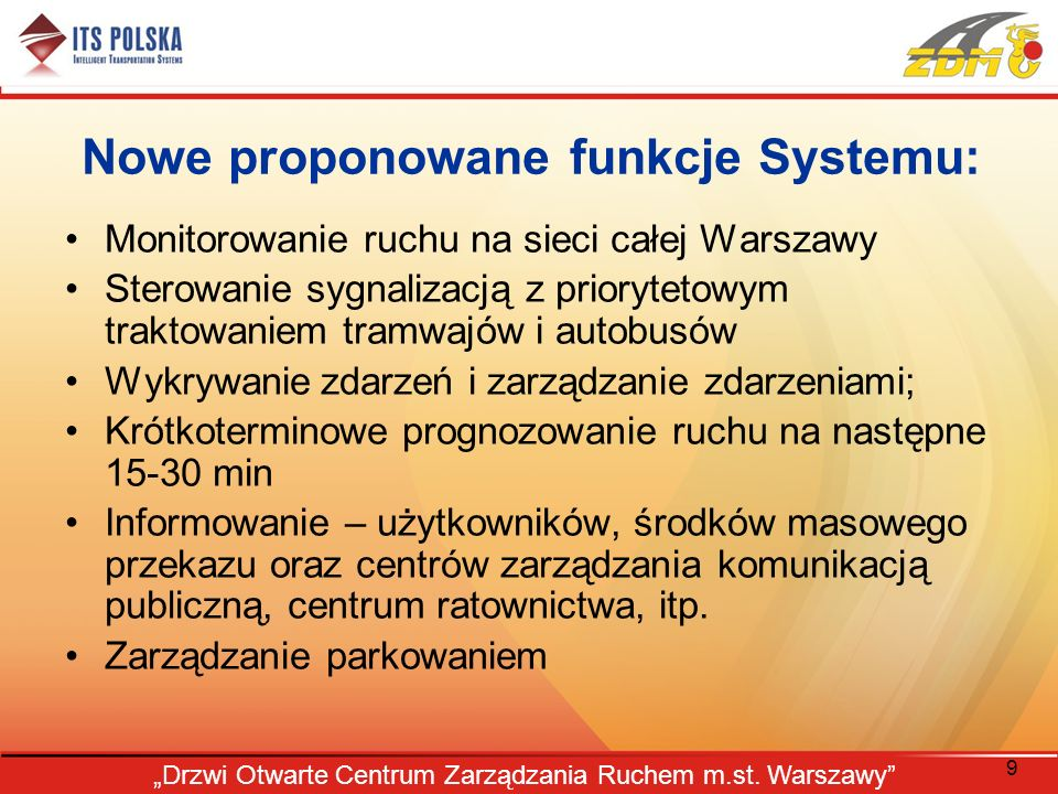 Nowe proponowane funkcje Systemu: