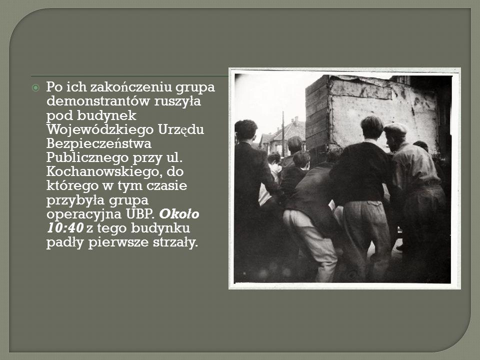 Po ich zakończeniu grupa demonstrantów ruszyła pod budynek Wojewódzkiego Urzędu Bezpieczeństwa Publicznego przy ul.