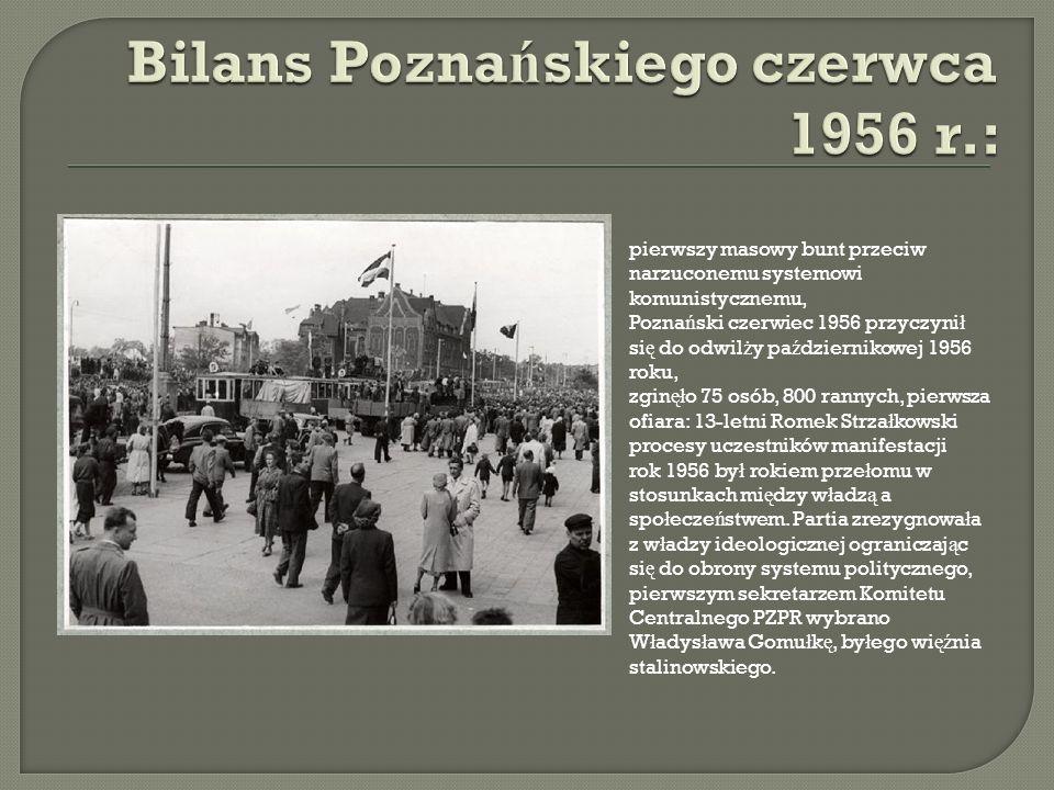 Bilans Poznańskiego czerwca 1956 r.: