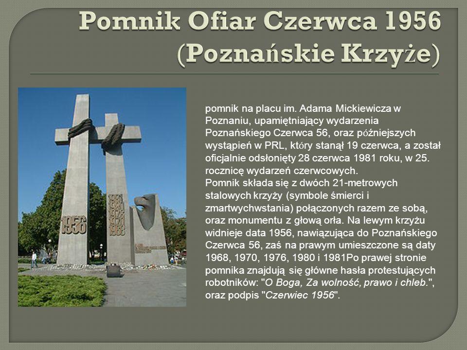 Pomnik Ofiar Czerwca 1956 (Poznańskie Krzyże)