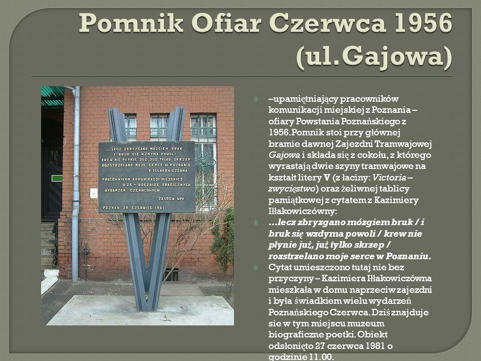 Pomnik Ofiar Czerwca 1956 (ul.Gajowa)