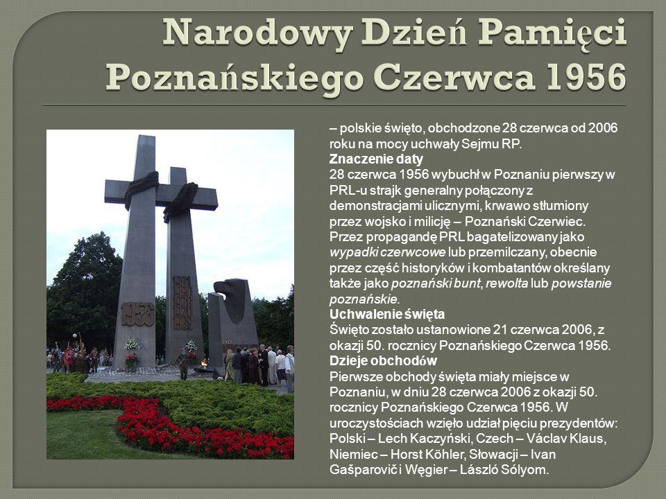 Narodowy Dzień Pamięci Poznańskiego Czerwca 1956