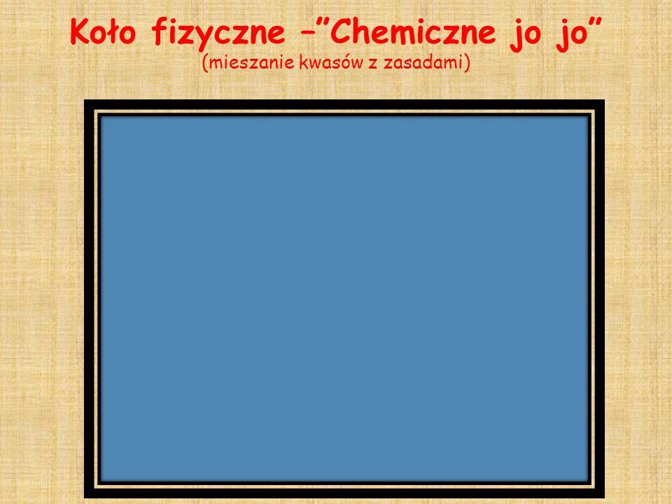 Koło fizyczne – Chemiczne jo jo (mieszanie kwasów z zasadami)