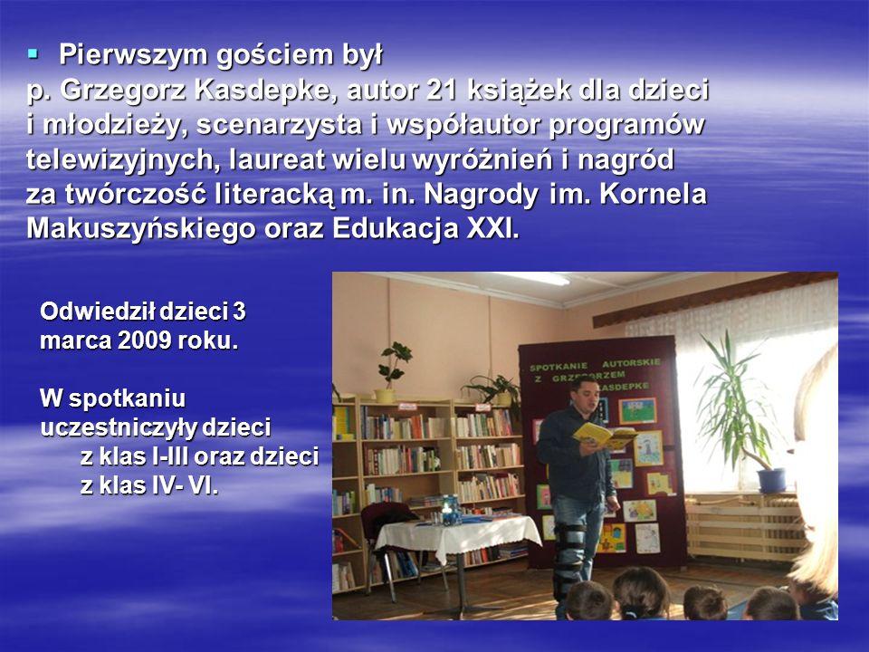 p. Grzegorz Kasdepke, autor 21 książek dla dzieci