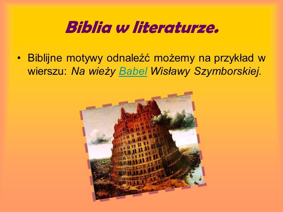Biblia w literaturze.