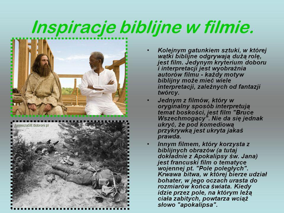 Inspiracje biblijne w filmie.