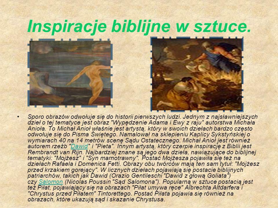 Inspiracje biblijne w sztuce.