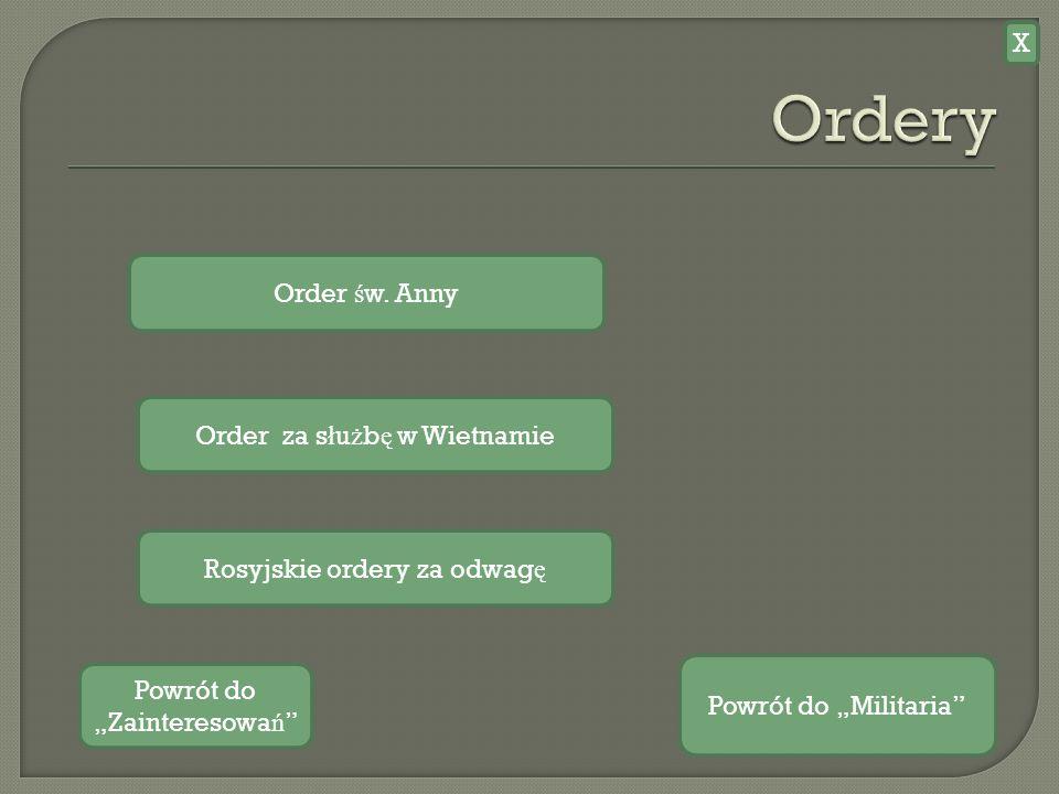 Ordery X Order św. Anny Order za służbę w Wietnamie