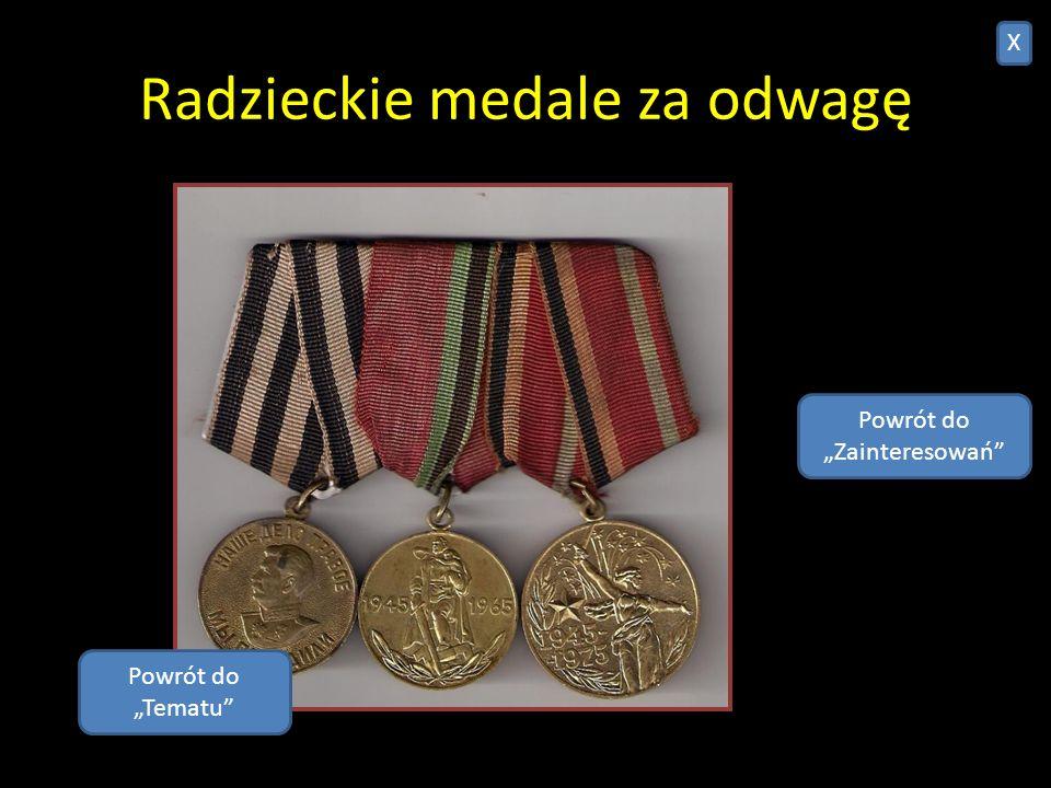 Radzieckie medale za odwagę
