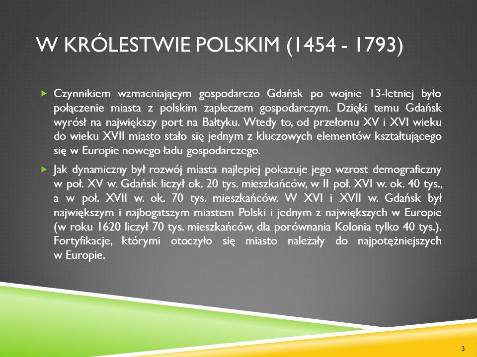 W Królestwie Polskim (1454 - 1793)