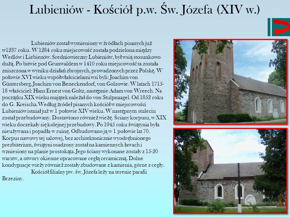 Lubieniów - Kościół p.w. Św. Józefa (XIV w.)