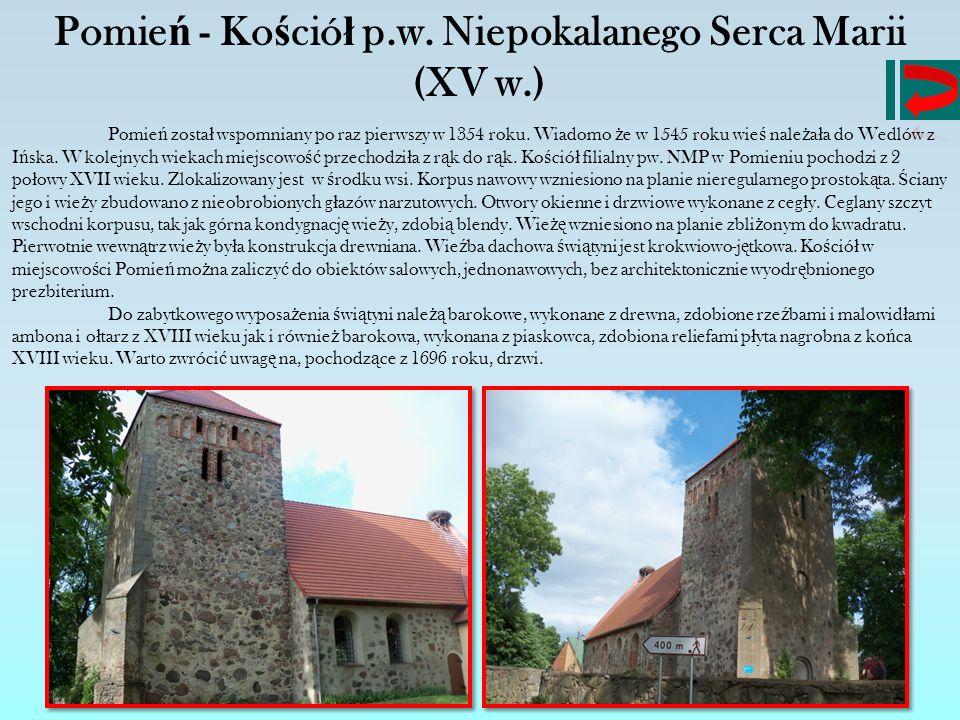 Pomień - Kościół p.w. Niepokalanego Serca Marii