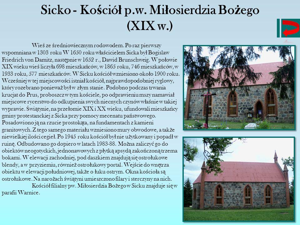 Sicko - Kościół p.w. Miłosierdzia Bożego (XIX w.)